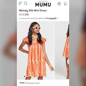 Show Me Your Mumu Melody Silk Mini Dress XS